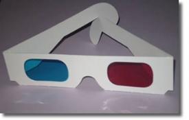 Картонные анаглифические очки