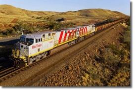 Локомотив для перевозки железной руды
