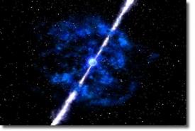 Визуальной образ рождения гамма-всплеска