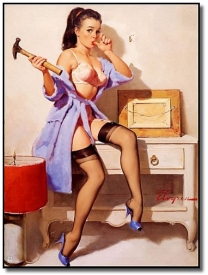 «Пин ап» (pin up) — «картинка для пришпиливания». США. Середина ХХ века