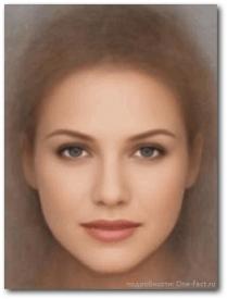 Среднестатистический эталон красоты женщины