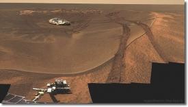 Марс. Eagle Crater. Снимок марсохода Opportunity (2004)