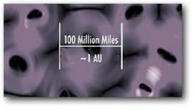 Схематическое изображение «пузырей» магнитной пены