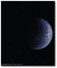 Одинокая ледяная планета без солнца