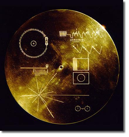 Футляр золотой пластинки «Вояджера»