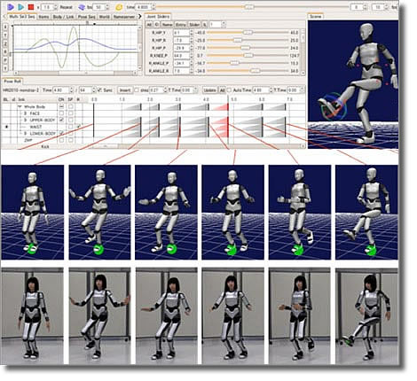 Программа Chorenoid и танец робота