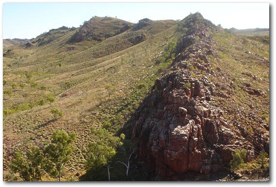 Отложения песчаника в Стрелли Пул (Пилбара)