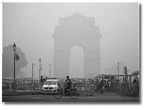 Нью-Дели - город с высоким уровнем загрязнения воздуха